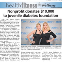 Bucks County Herald: Nonprofit donates $10,000 to juvenile diabetes foundation